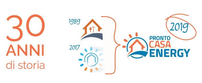 Logo 30 anni di storia | prontocasaenergy.it
